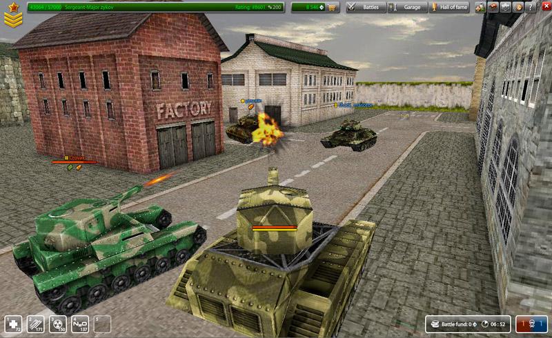 игра танки онлайн смотреть